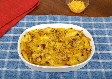 Potatoes Au Gratin in Casserole with Cheese