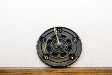 second floor: Retro Elevator Dial on Second floor Stock Photo
