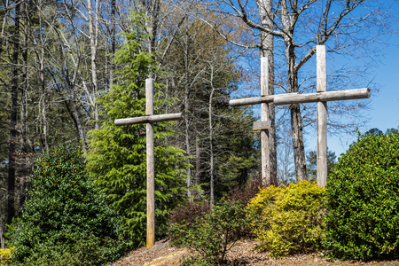 Three Crosses at Church on Easter