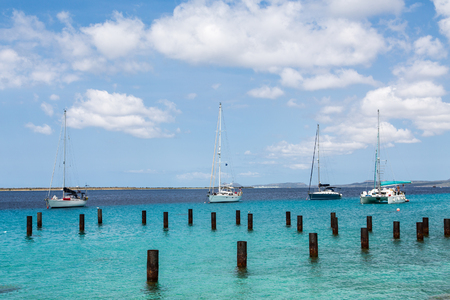 Four Sailboats in Belize