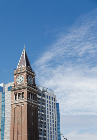 Old clock tower in Seattle Washington