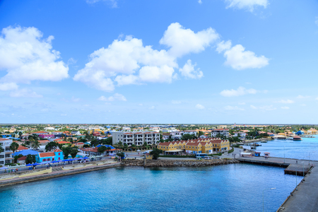 Buildings on the Coast of Aruba from the Sea