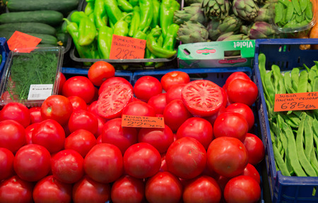 Fruits and vegetables in a market in Palma de Mallorca Stock Photo