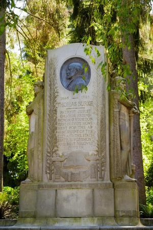 Thomas Burke Memorial in Seattle City Park Фото со стока