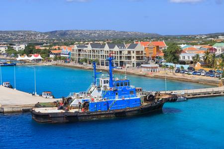 Massive Tug Boat docked in Bonaire Harbor