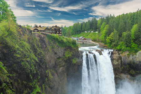Snoqualmie Falls near Seattle, Washington in the Pacific Northwest