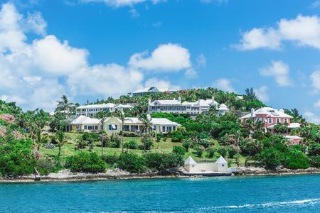 Luxury houses on the coast of Bermuda