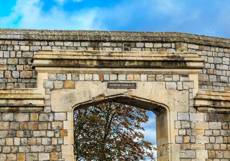 residence: Details of Windsor Castle, in Windsor England, United Kingdom Stock Photo