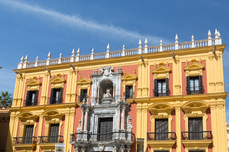 Old buildings and architecture in Malaga Spain Stock Photo
