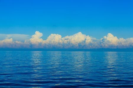 Dramatic Clouds Over Blue Horizon in the Adriatic Sea