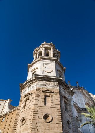 Cadiz Bell Tower into Blue Sky