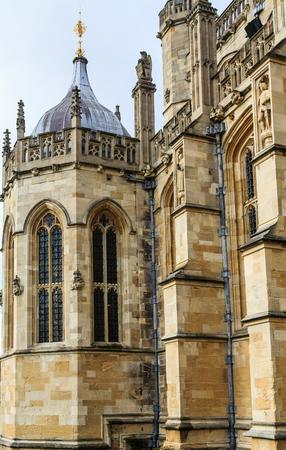 Details of Windsor Castle, in Windsor England, United Kingdom Stock Photo