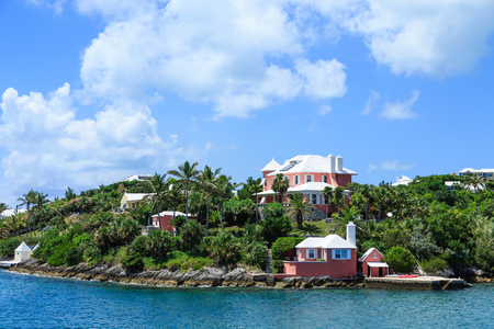 Colorful Homes on the Coast of Bermuda