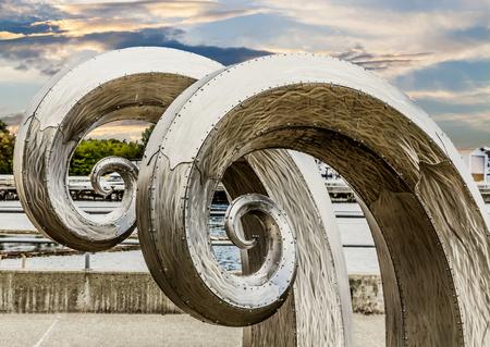 Sculptures Near Ballard Locks in Seattle