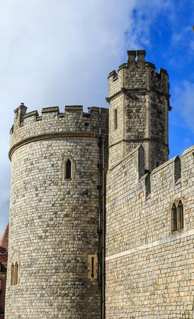 Old Stone Corner Tower in Windsor Castle Stock Photo