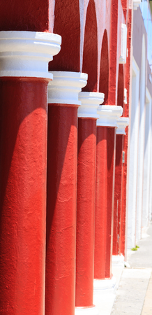 Red and White Columns