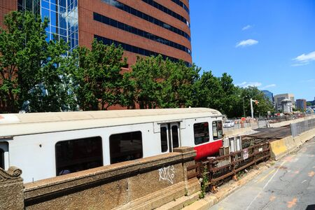 Commuter Train in Boston