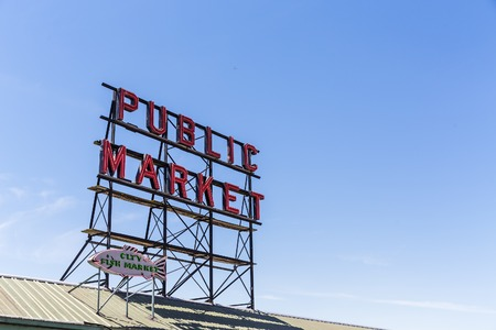 Neon Sign for Public Market in Seattle