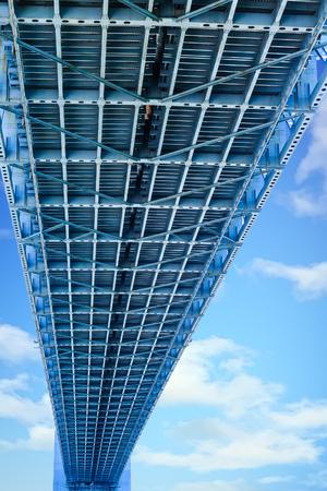 Underneath Verrazano Narrows Bridge