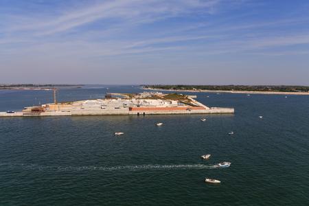 Artificial Island Between Venice and Adriatic Banco de Imagens