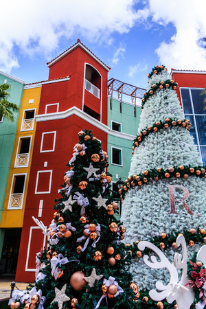 Christmas trees in Curacao Banque d'images