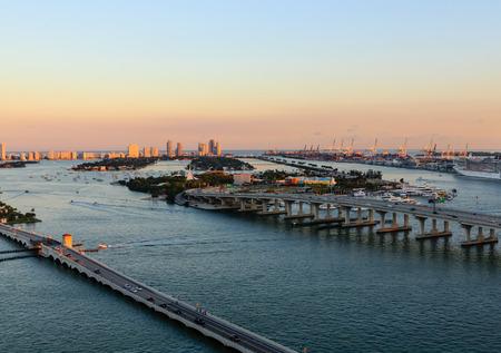 Miami Causeways at Sunset