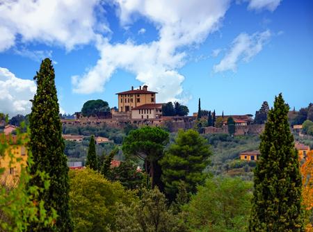 Tuscany Estate on a Hill Banco de Imagens - 93060039