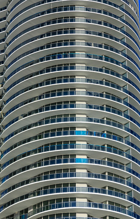 Long Round Balconies on Miami Tower