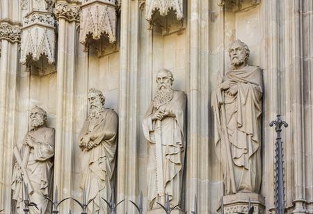 Four Statues on Barcelona Church