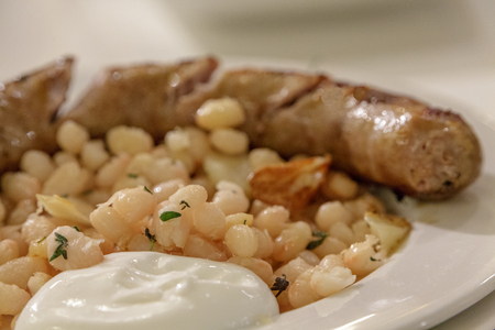 White Beans and Sausage 写真素材