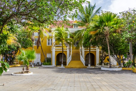 Yellow Stucco Government Building on Bonaire