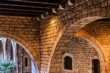 Old Stone Arches in Barcelona