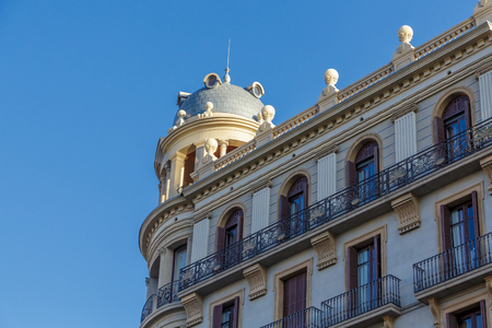 Domed Cupola and Iron Railings on Barcelona Building