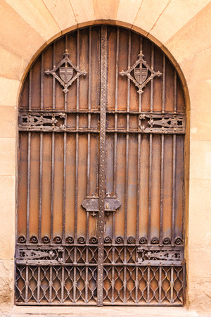 Ancient Iron and Wooden Gate