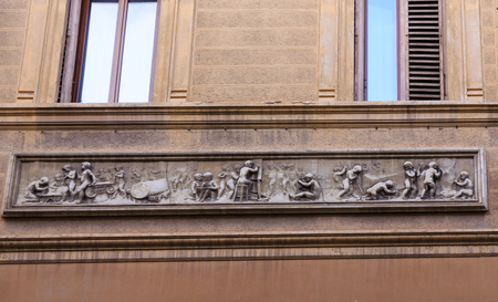 Frieze on Old Wall Stock fotó