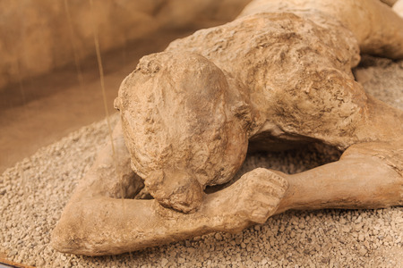 Mummified Victim of Pompeii