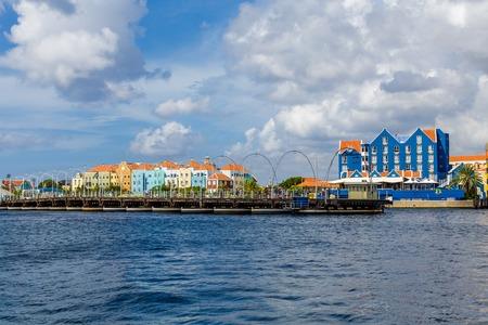 Open Pontoon Bridge in Curacao
