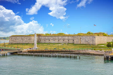 Fort Independence near Boston Stock Photo