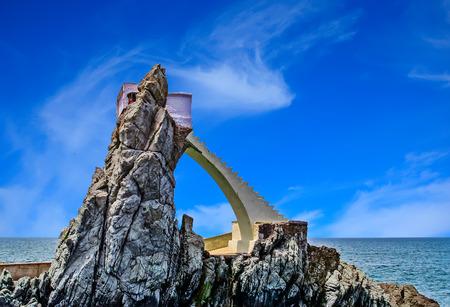 Cliff Divers Platform Фото со стока