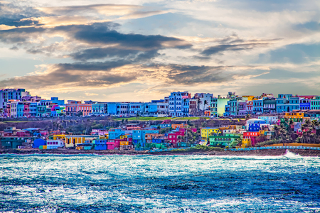Colorful Village on Coast of San Juan