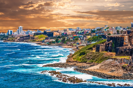 The rocky coast of Puerto Rico at El Morro