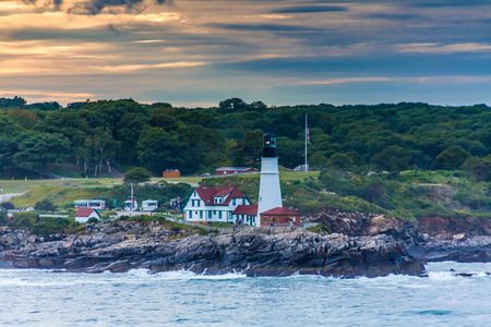 Portland Head LIghthouse in Sunset