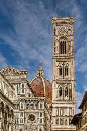 Il Duomo and Bell Tower 스톡 콘텐츠