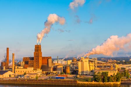 Contaminación de la fábrica de papel