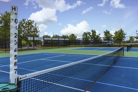 Cancha de tenis de lado