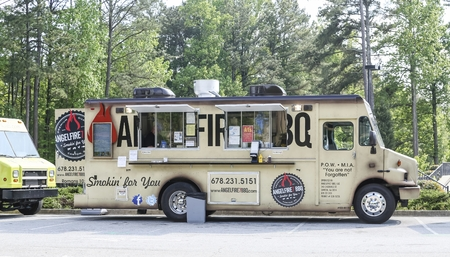 Angel Fire Barbecue Food Truck