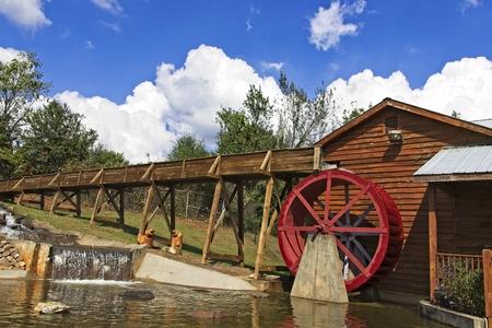 Water Wheel at Mill Standard-Bild