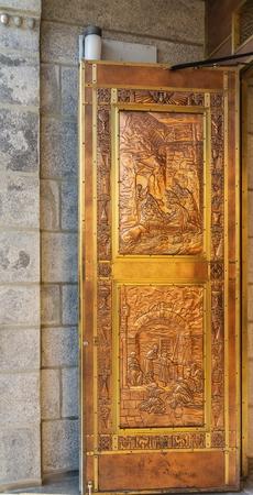 Details on Copper Door