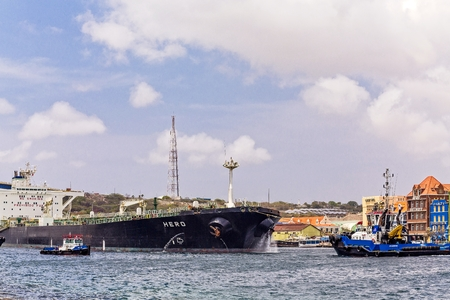 Two Tugs and Tanker in Curacao Editorial