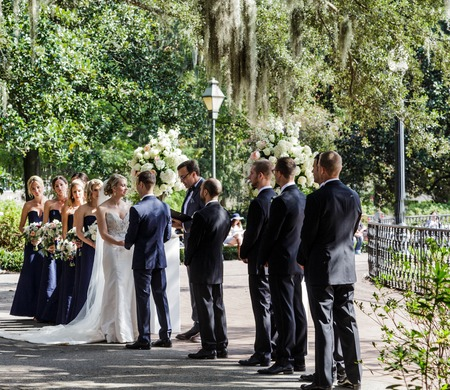 Wedding in Forsyth Park Editorial